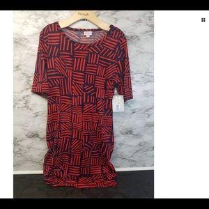 LuLaRoe Women's Julia Red Dress Sz XL NWT